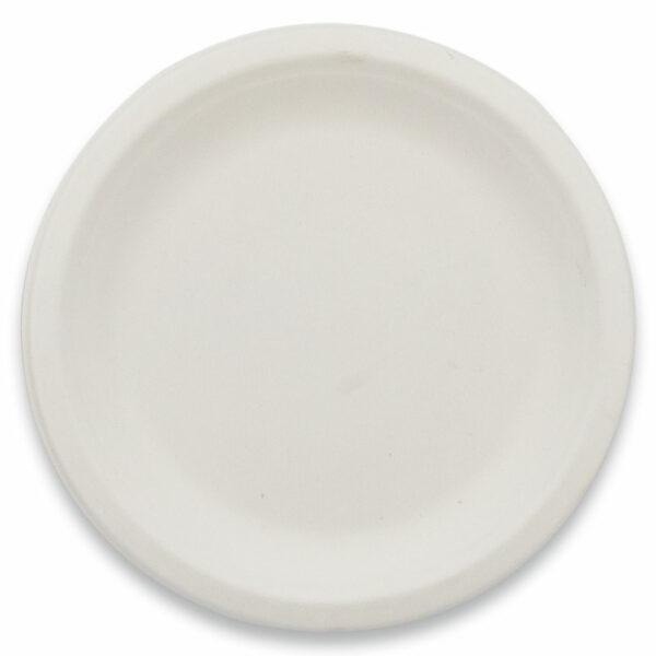 Assiette Ronde Biodégradable Bagasse 18cm