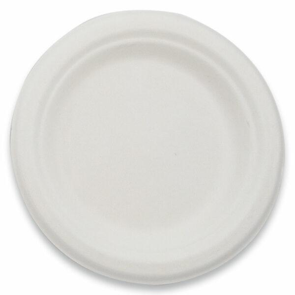 Assiette Ronde Bagasse 15.5cm