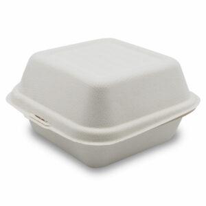 Boîte Burger Bagasse Fermé 11.5x14.8x8cm