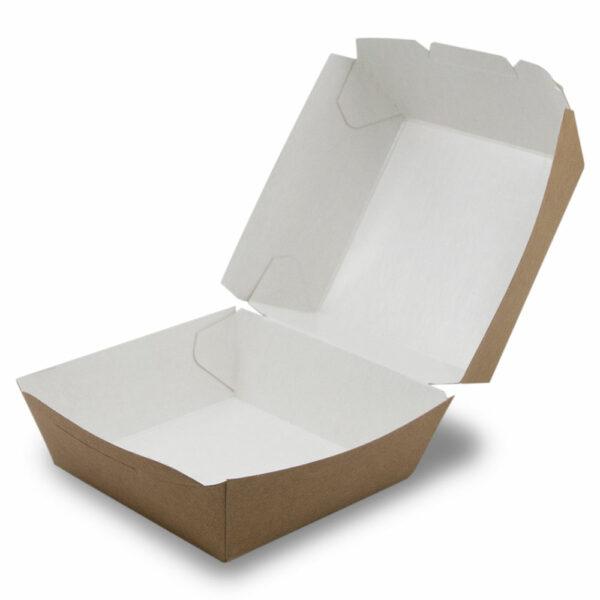Boîte Burger Carton Kraft Ouvert 8.9x10.8cm / 8.9x7cm