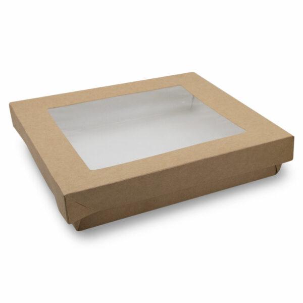 Boîte Kraft Brun Fenêtre avec Couvercle 20.5x20.5x4cm