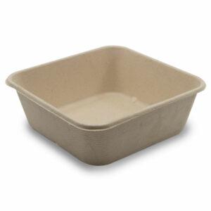Boîte Rectangle Bagasse 15.5x15.5x5.3cm