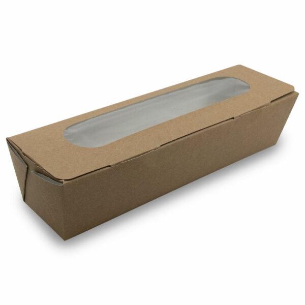 Boîte Sandwich Baguette Kraft 25.4x8cm 6x6.2cm