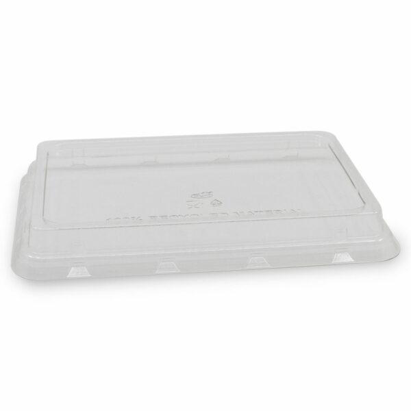 Couvercle rPET pour Boîte Rectangle Bagasse 23.9x16.5x2.8cm