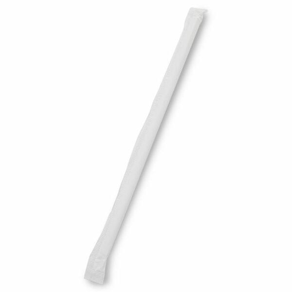 Emballage Paille Biodégradable Papier Blanc Ø 0.6cm h.20cm