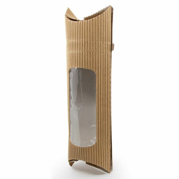 Etui à Wrap Fenêtre Carton Kraft Brun 28.5x11x5.5cm