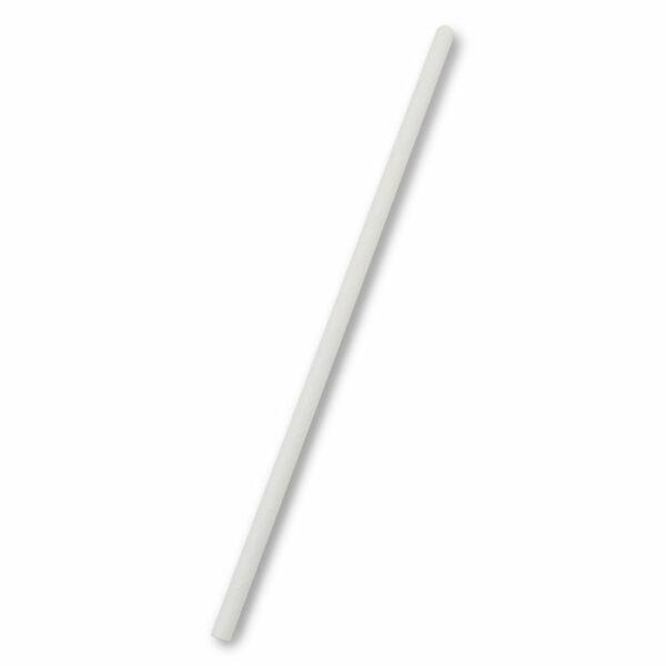 Paille PLA Blanc Ø 0.6cm h.20cm