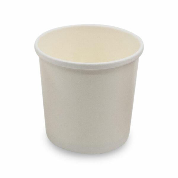 Pot à Soupe Carton Blanc Ø 9cm h.8.5cm