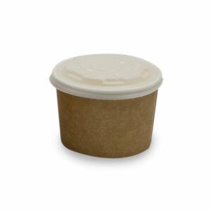 Pot à soupe avec Couvercle CPLA Carton PLA Ø 9cm