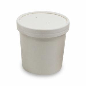 Pot avec Couvercle Carton Blanc Ø 9cm h.8.5cm