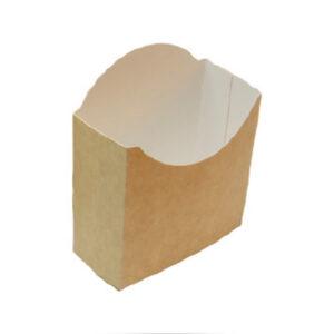 Barquette Frites Carton Kraft Made In France 9.5x4x11cm