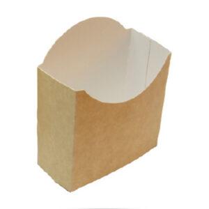 Barquette Frites Carton Kraft Made In France 9.5x4x12.5cm