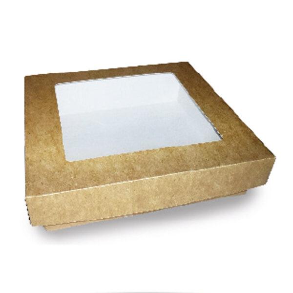 Boîte Kraft Fenêtre Couvercle Biodégradable 22.8x12.4x7.8cm