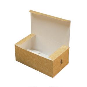 Boîte Rectangle à Couvercle Carton Kraft Brun 14.4x8.5x6cm