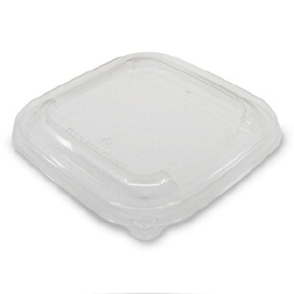 Couvercle Micro-Ondable PP pour Saladier Bagasse 17x17cm