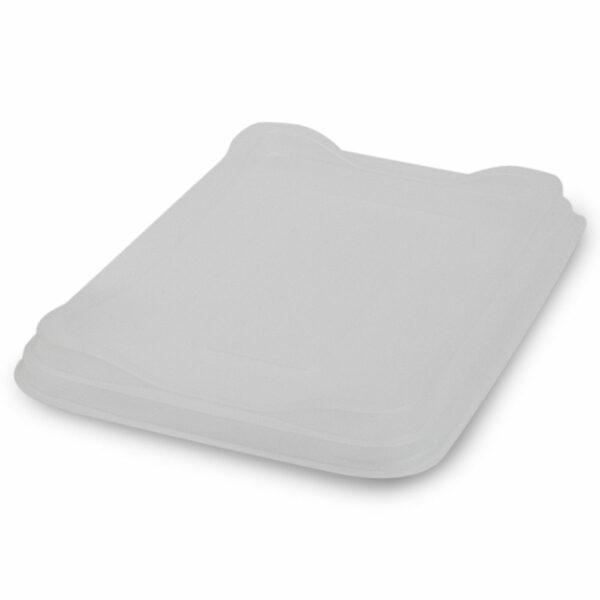 Couvercle PP pour Barquette Plat Chaud C-Vis Carton 22x22x1.7cm