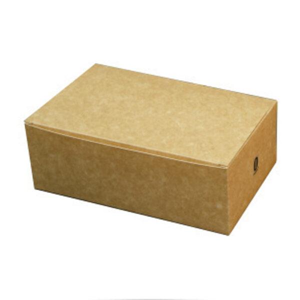 Boîte Rectangle à Couvercle Carton Kraft Brun 17.5x10.5x6.5cm