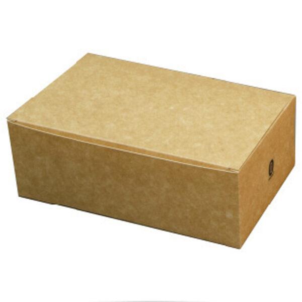 Boîte Rectangle à Couvercle Carton Kraft Brun 22.8x12.4x7.8cm