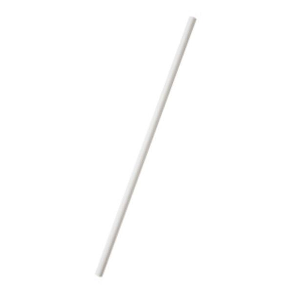 Paille Papier Blanc Ø 0.6cm h.20cm